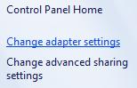 [change adapter settings]