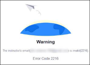 Zoom error code 2216