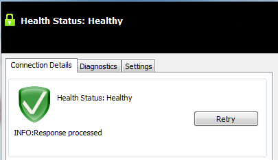 ClearPass OnGuard should now show a healthy system.