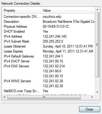 [network connection details]