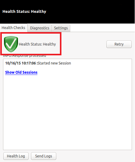 Clearpass Onguard reporting as healthy.