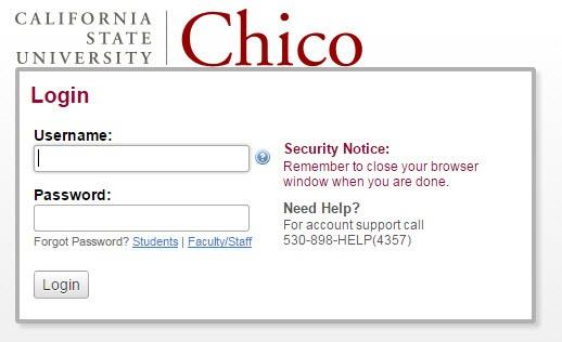 Chico State Login