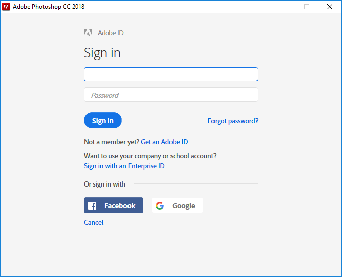 adobe id sign in